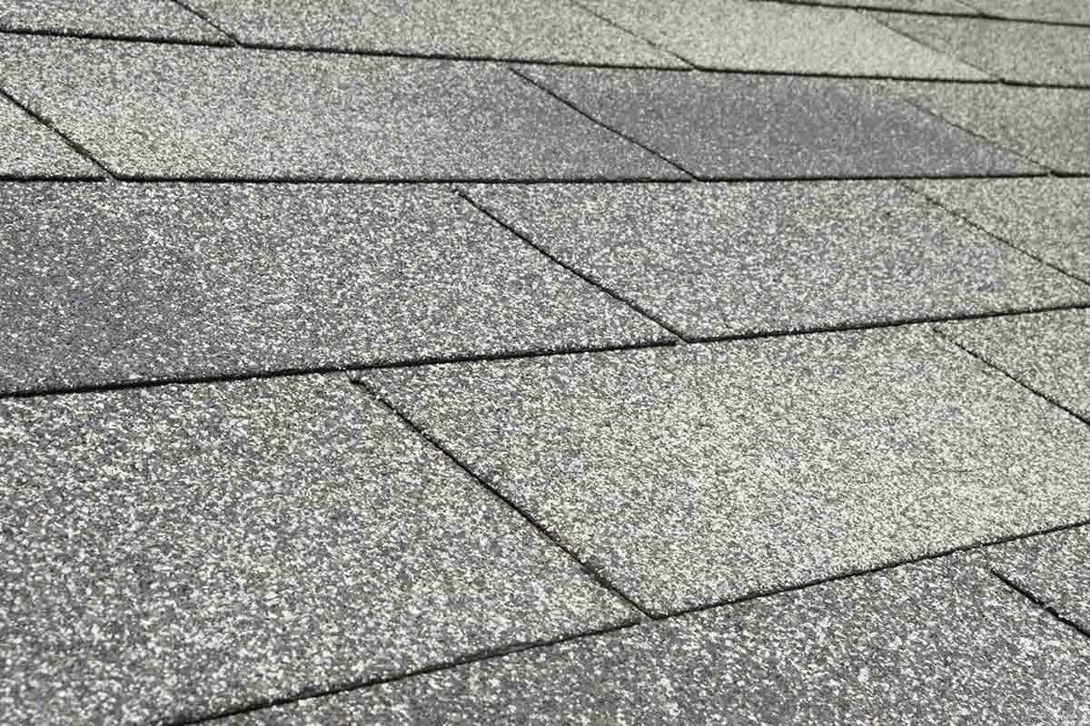 gray 3-tab asphalt shingles
