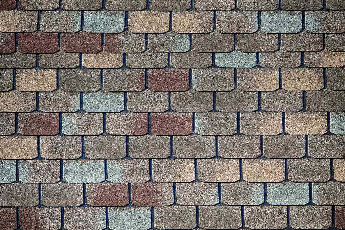 gray, brown, and red colored luxury shingles
