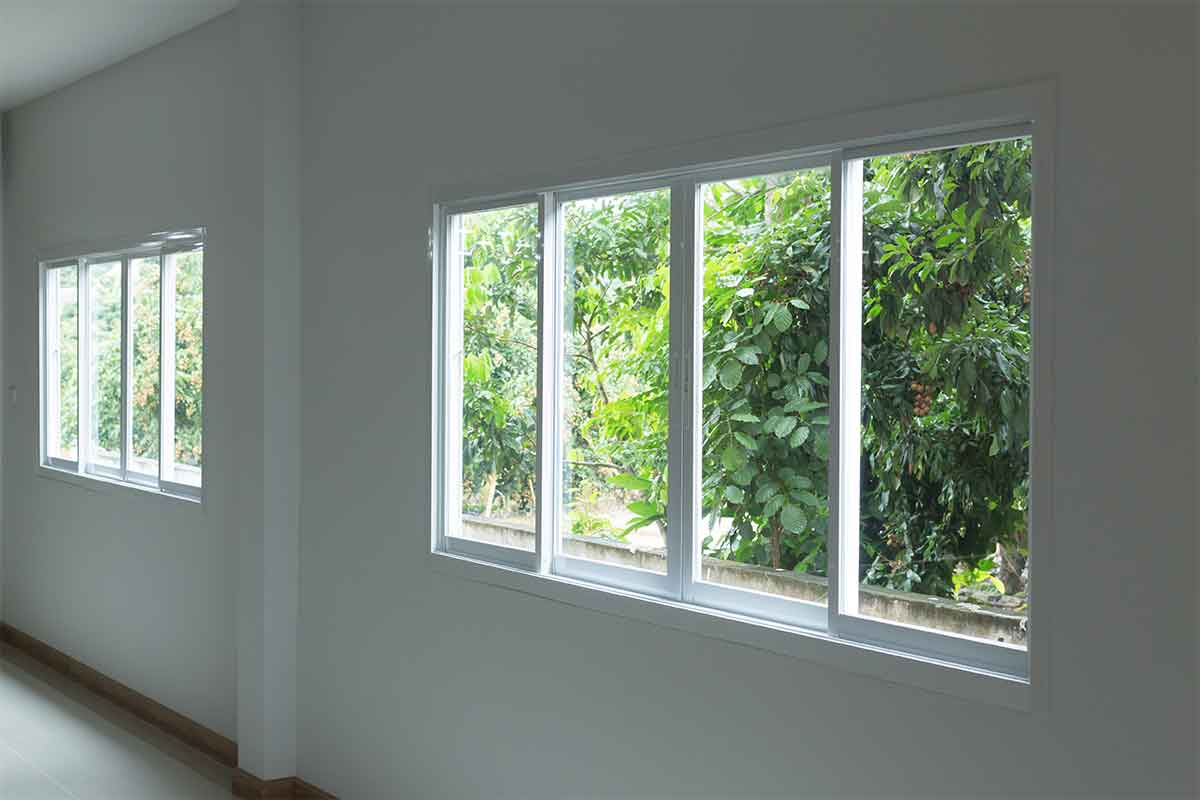 sliding window seen from inside of a room