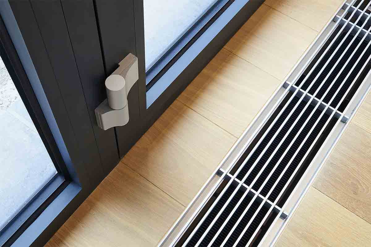 alt tag: Air vent in the floor of a modern home