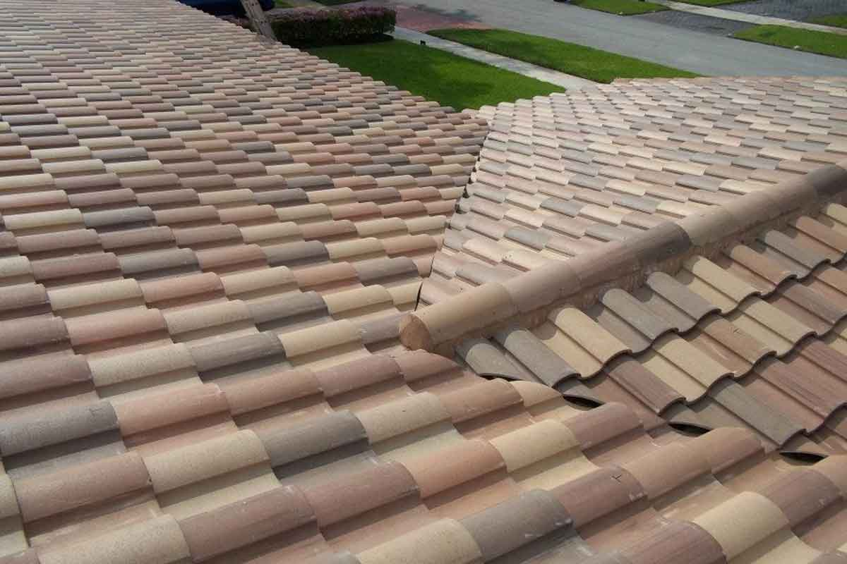 example of newly installed roof tiles