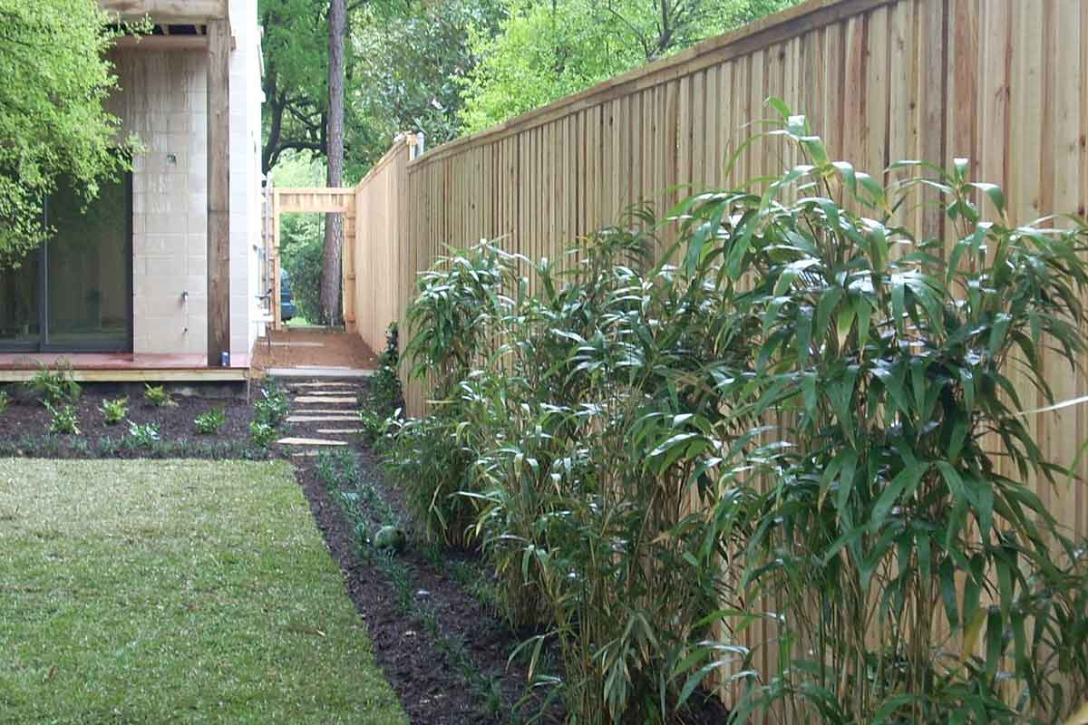 cedar fence with trim and cap