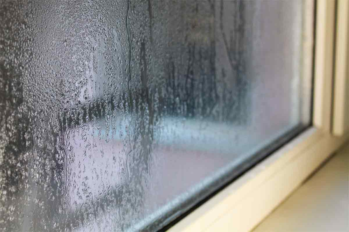 condensation on window from high humidity levels