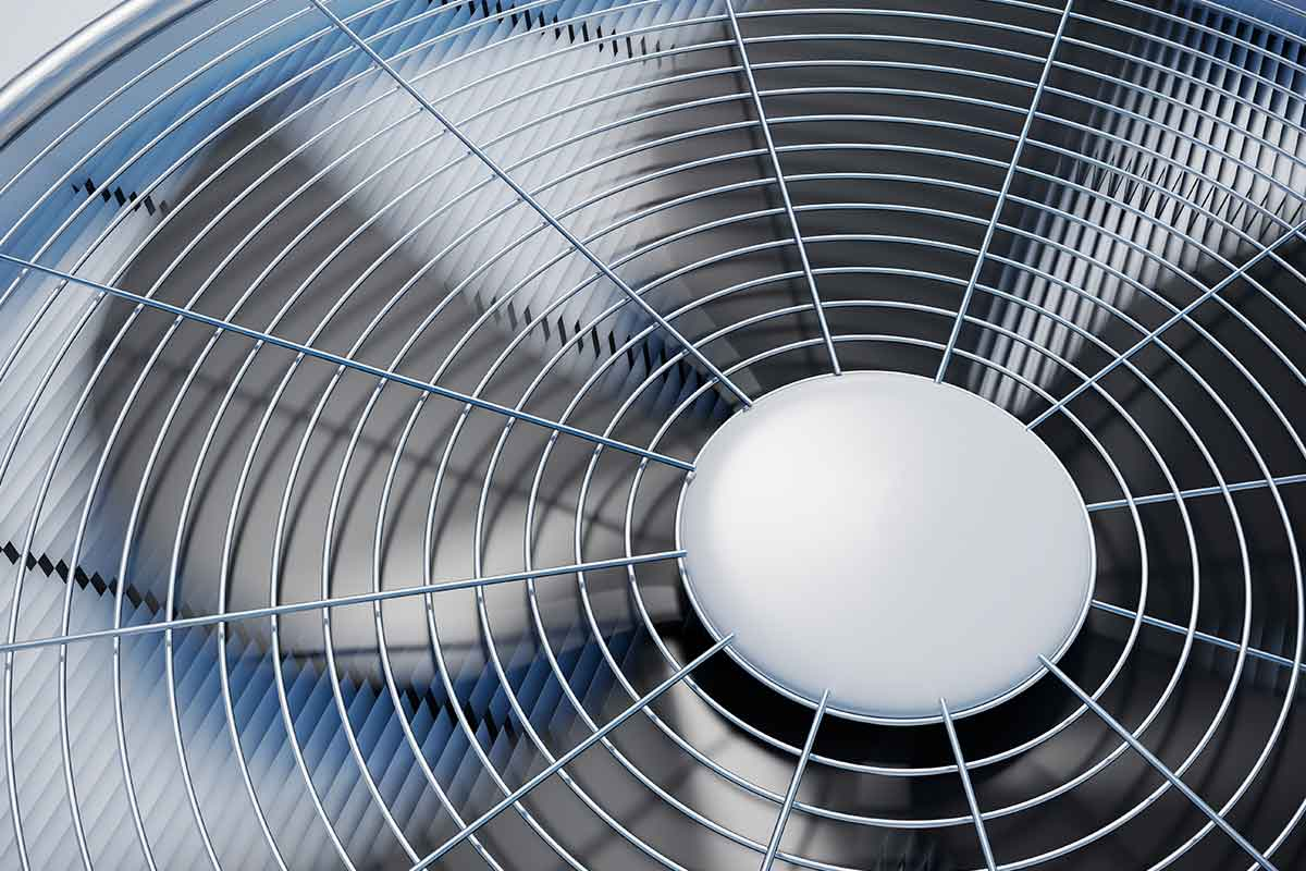 Close-up image of HVAC system fan