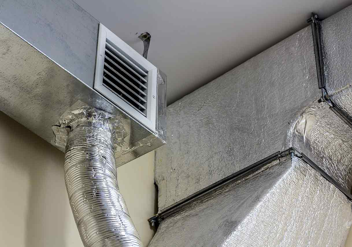 uncovered ductwork