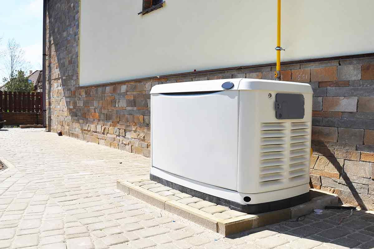 standby generator outside of house