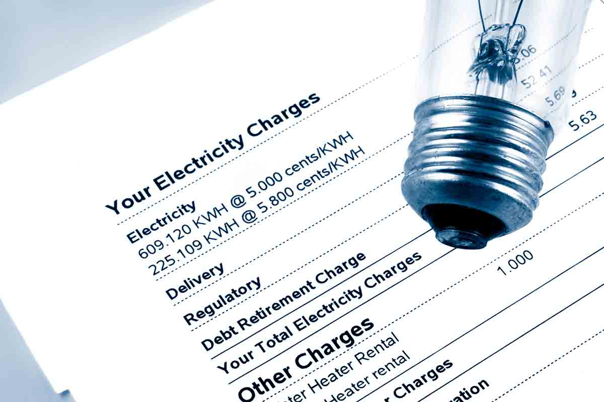example of a residential electricity bill