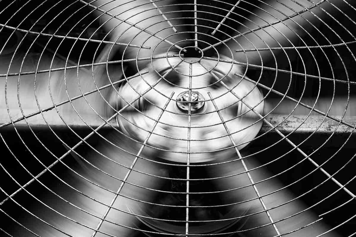 close-up image of hvac fan