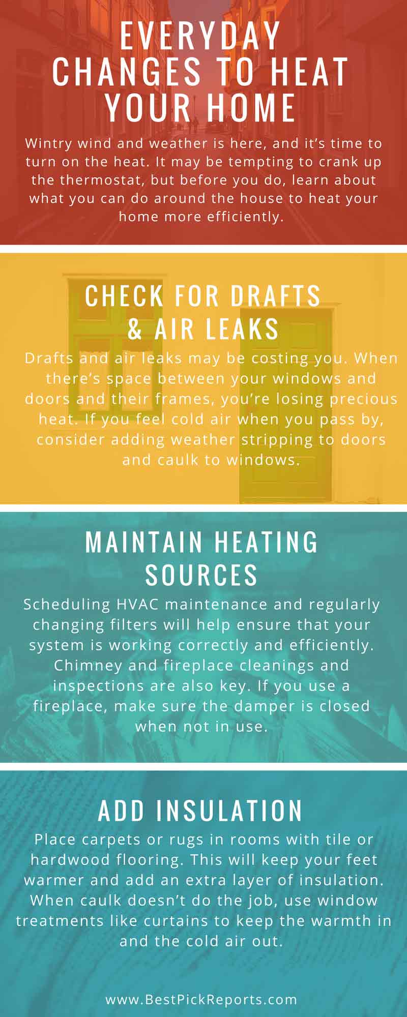 Infographic on Everyday Changes to Heat Your Home
