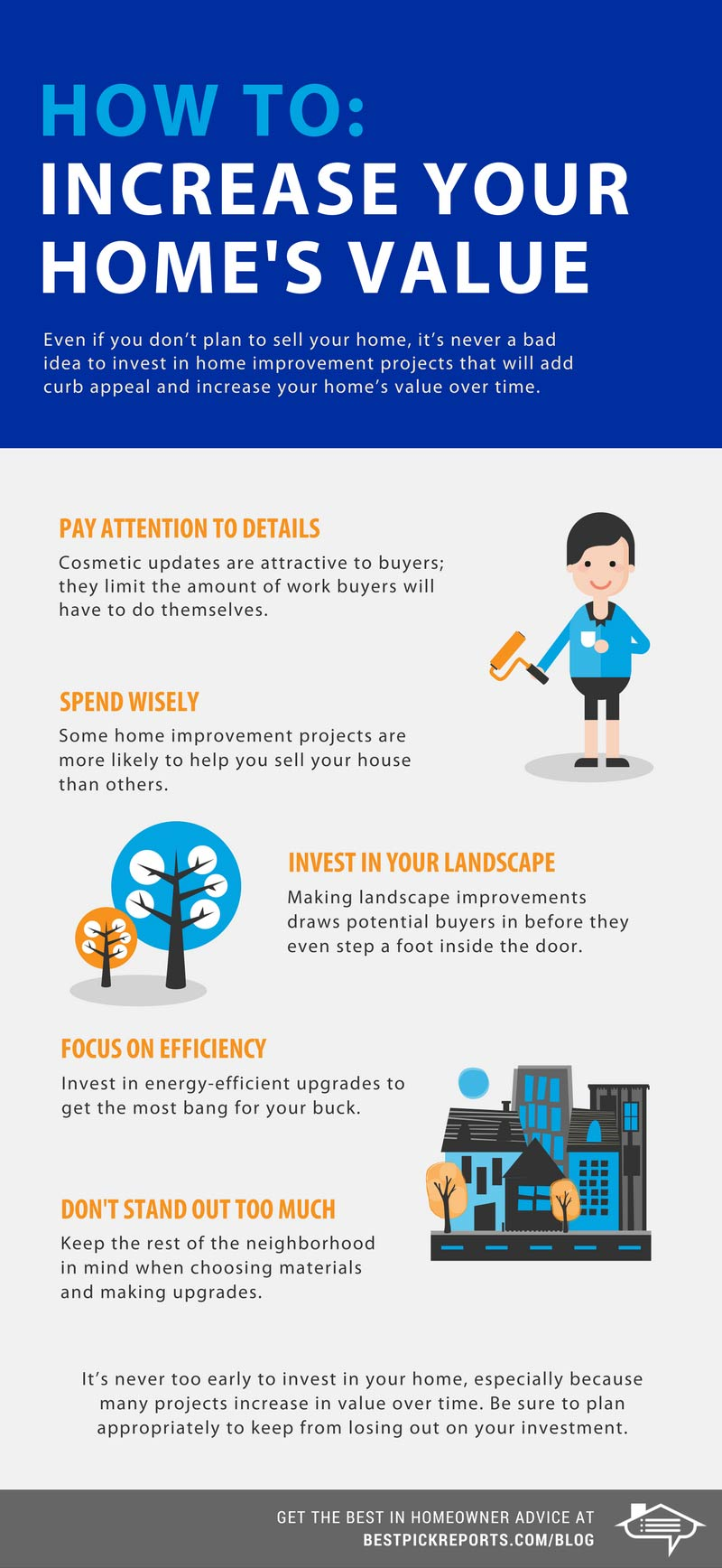 How to increase your home's value infographic