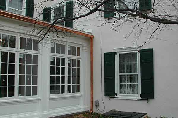 Renovated historic home exterior