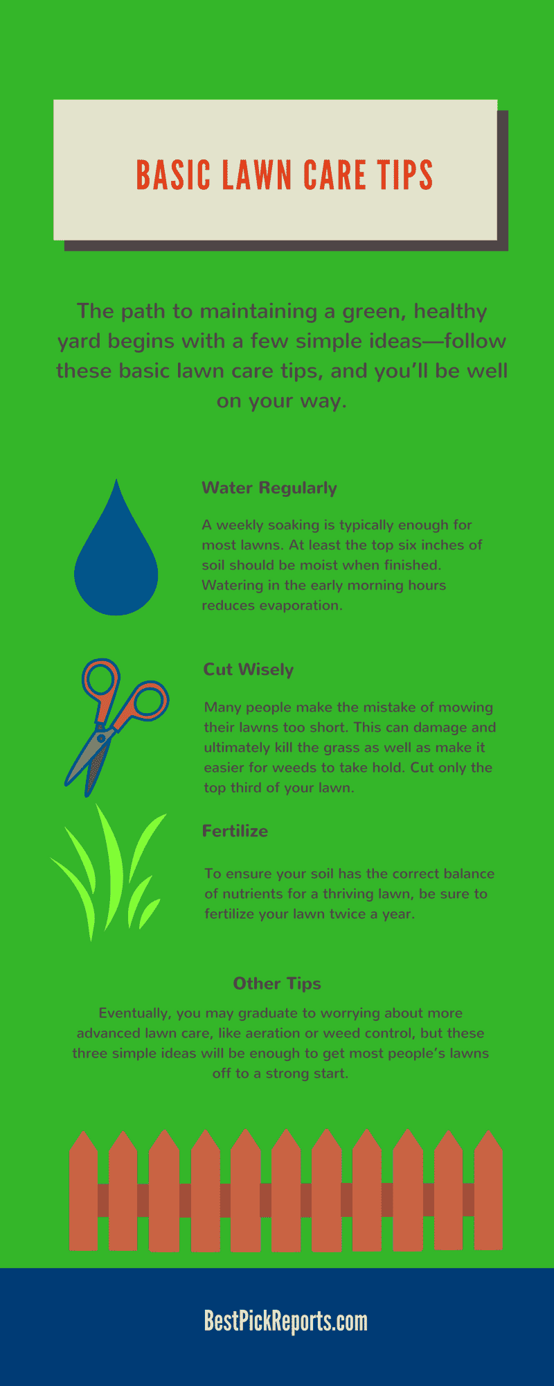 Infographic of Lawn Care Tips