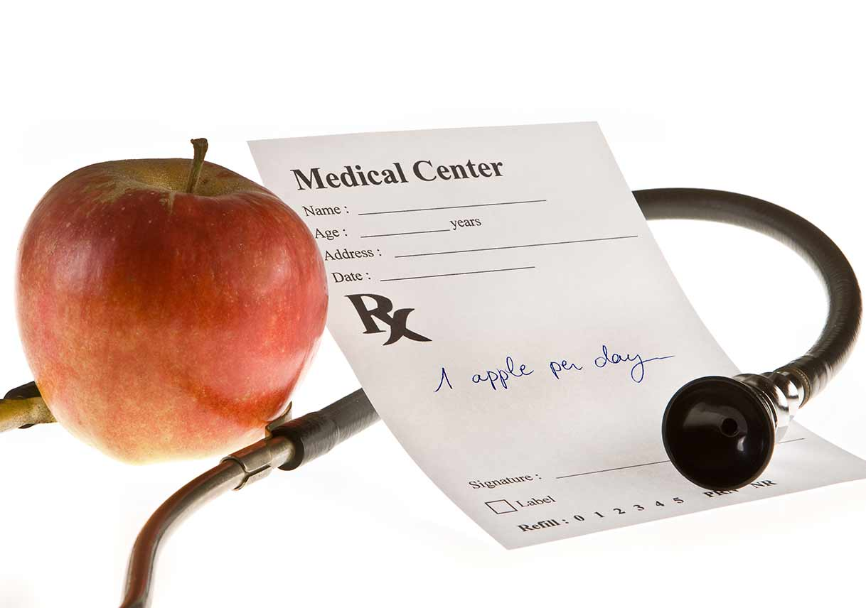 apple next to prescription