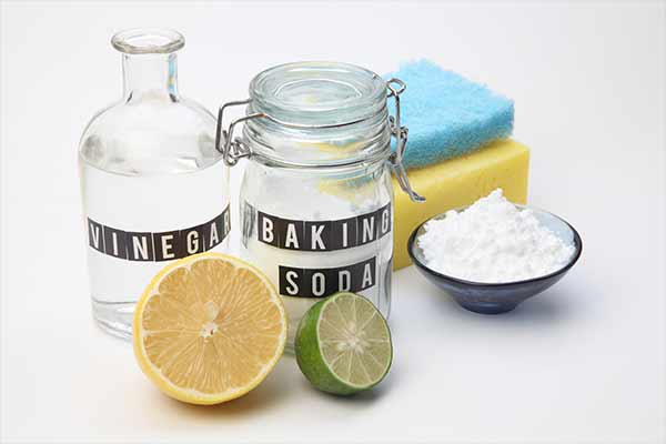 a set of natural cleaning ingredients