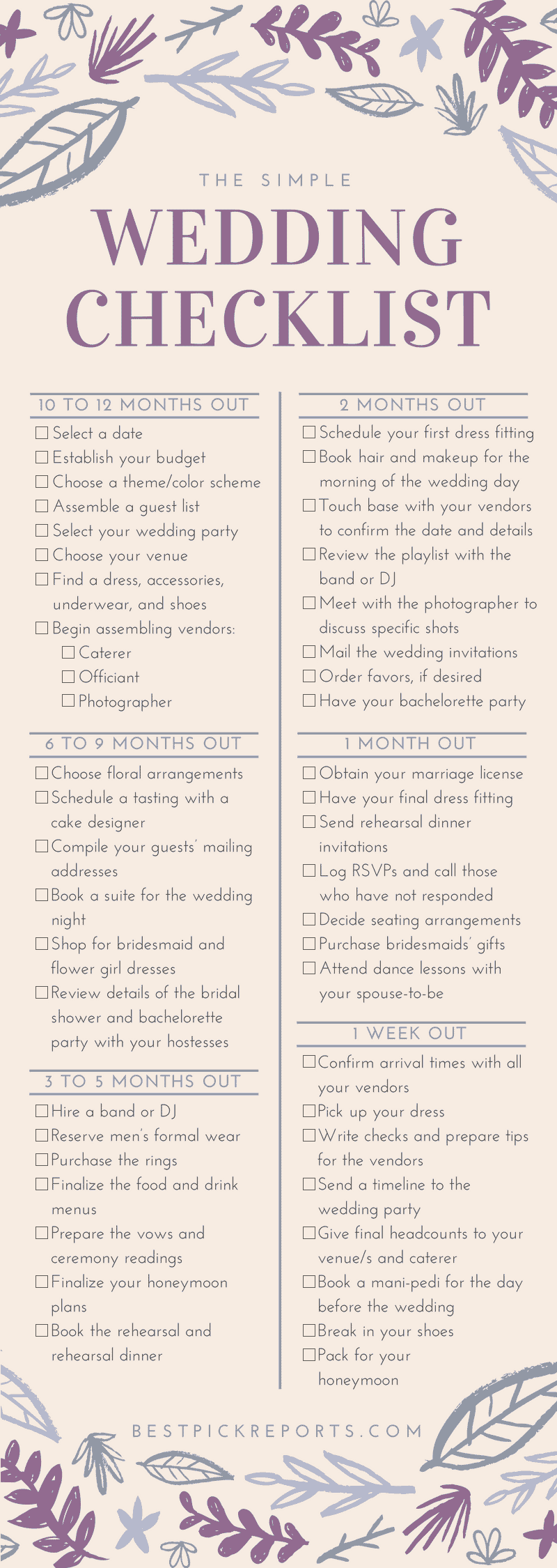 bride u2019s complete checklist for a simple wedding