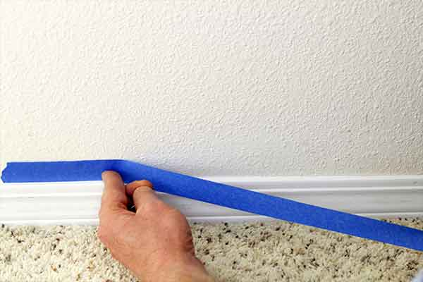 Don't tape your baseboards too high or too low