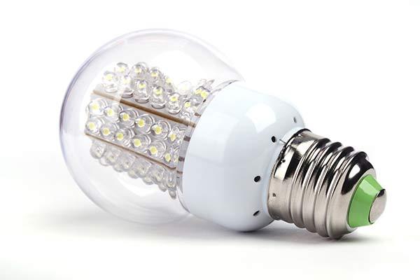 Close-up of LED lightbulb