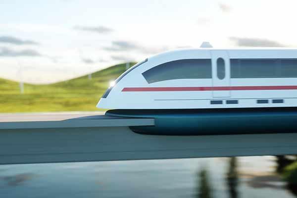 futuristic, modern train