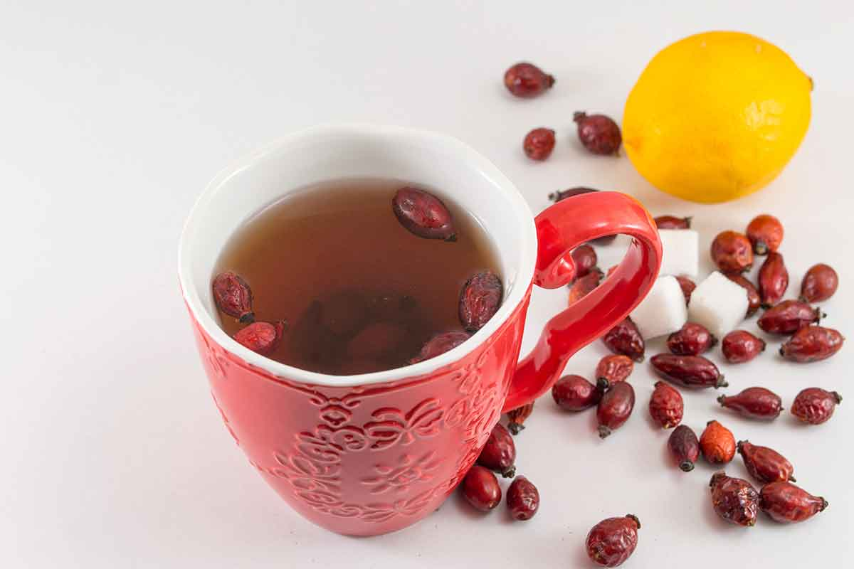 cup of rosehip tea