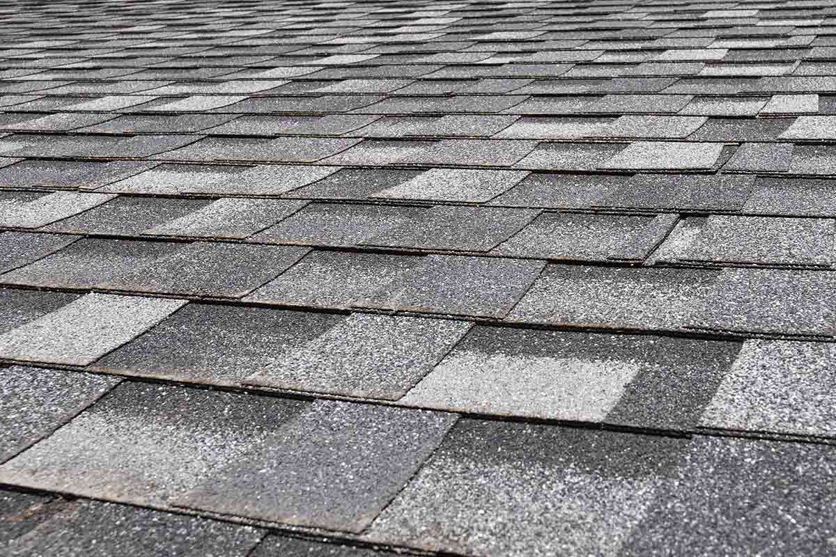 asphalt shingles close up