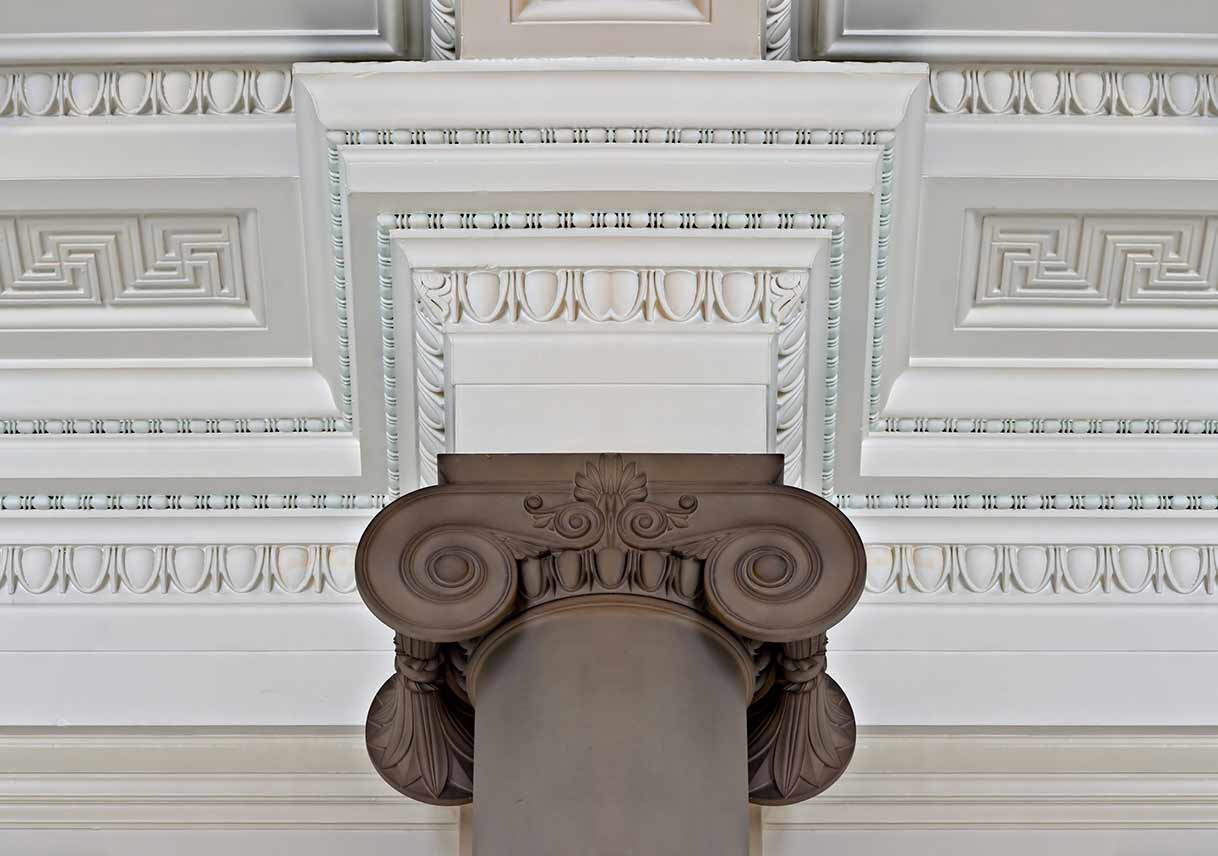 detailed cornice on ceiling