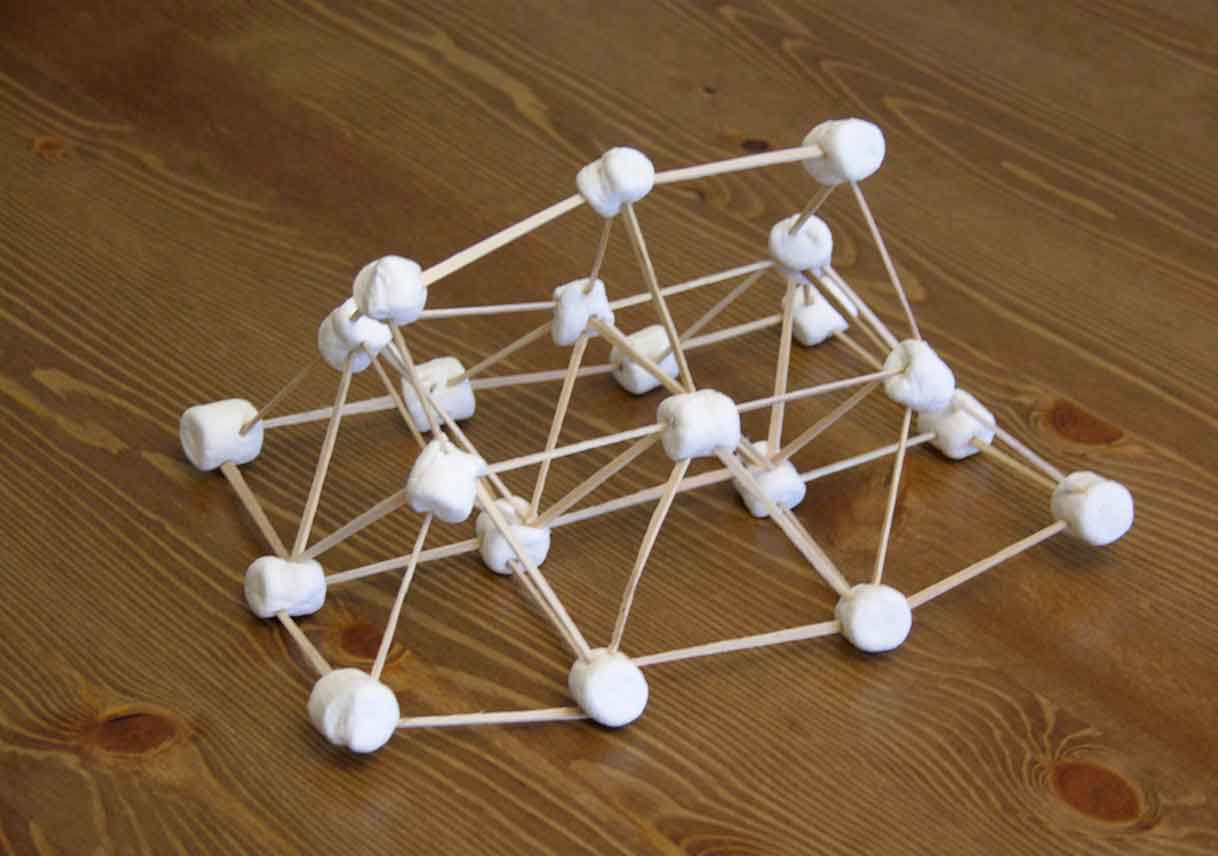toothpick and marshmallow structure