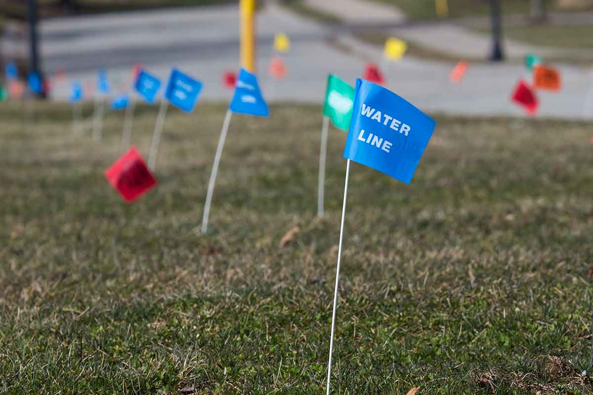 water line utility flags