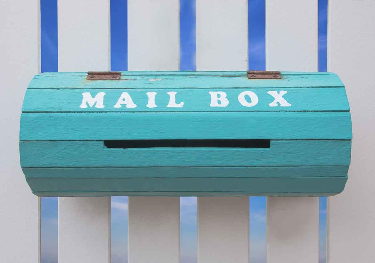 vintage painted mailbox