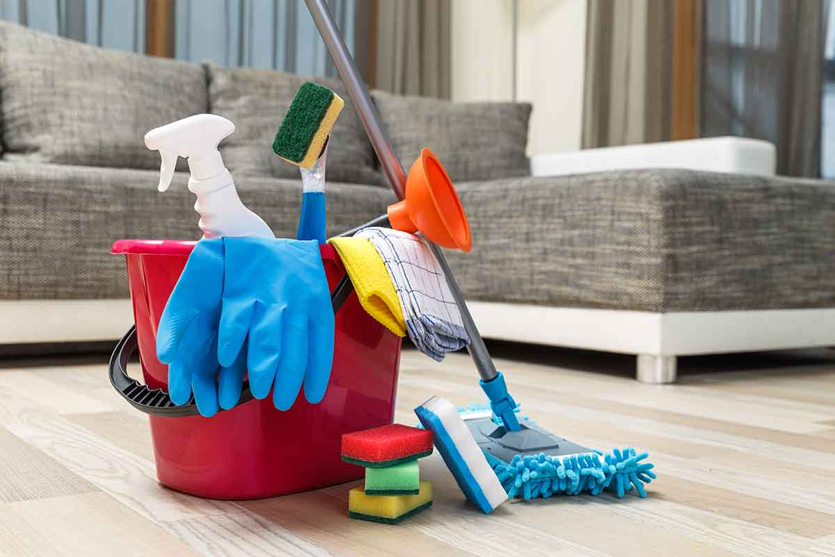house cleaners and cleaning supplies