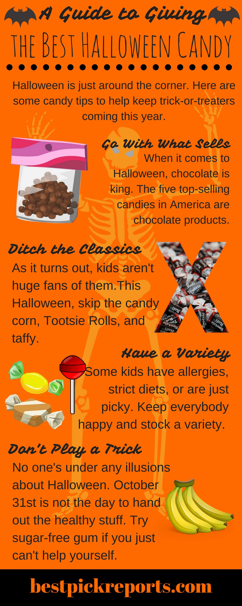 An infographic guide to giving out the best Halloween candy