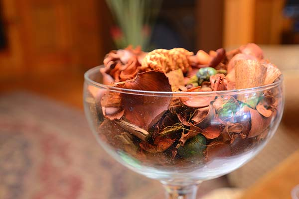 potpourri in glass bowl