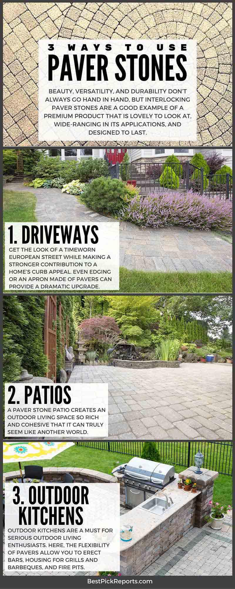 3 Ways to Use Paver Stones