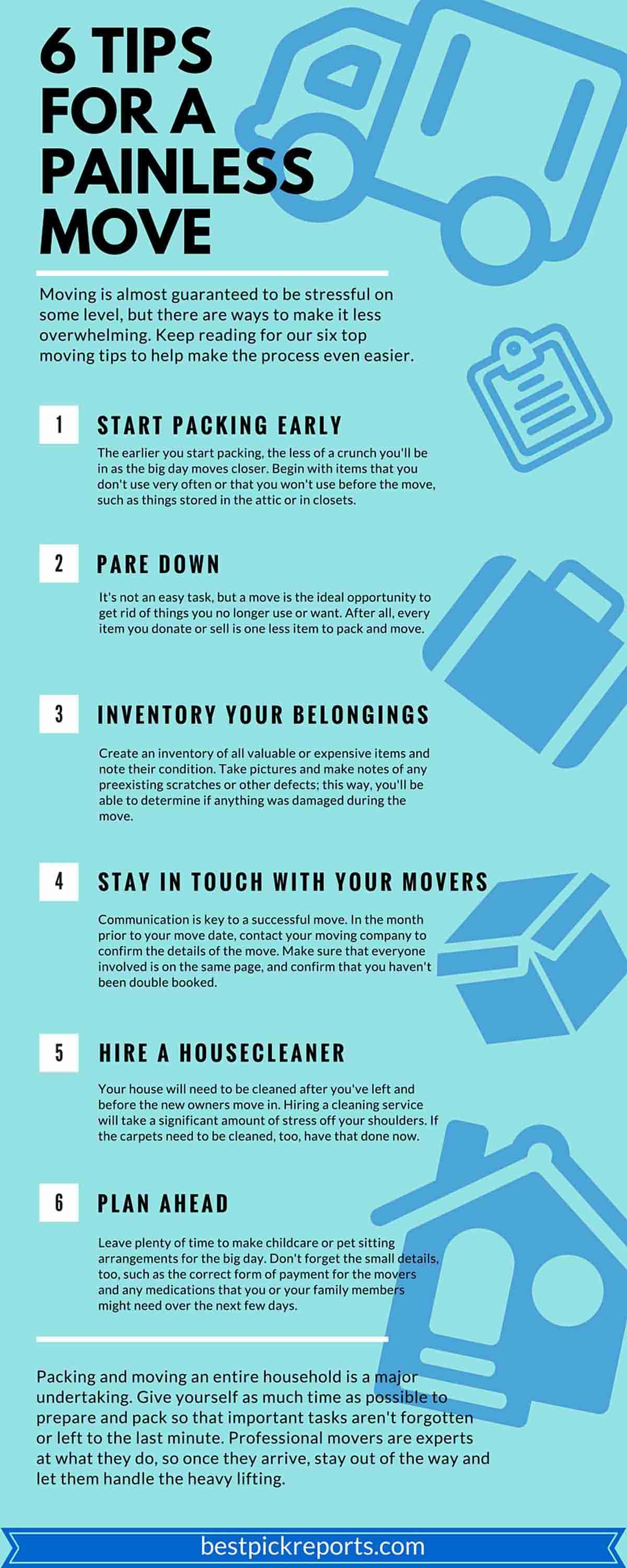 6 Tips for a Painless Move
