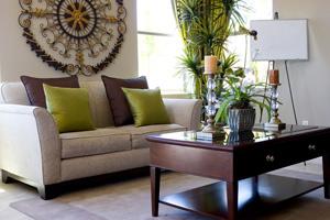 Modern tastefully decorated living room