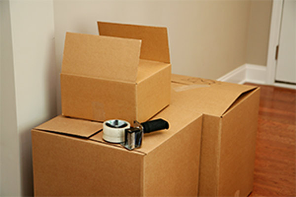 boxes and packing tape