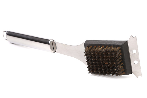 isolated grill cleaning brush
