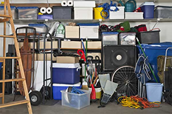 overloaded residential garage