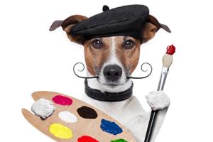 photo painter dog